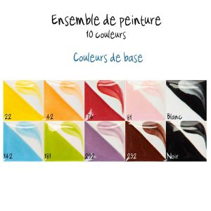 Ensemble de 10 couleurs