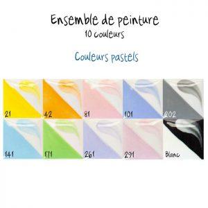 Ensemble de 10 couleurs pastel
