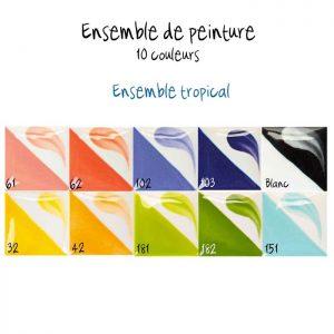 Ensemble de 10 couleurs tropicales