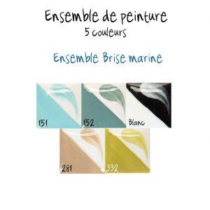 Ensemble de 5 couleurs brise marine