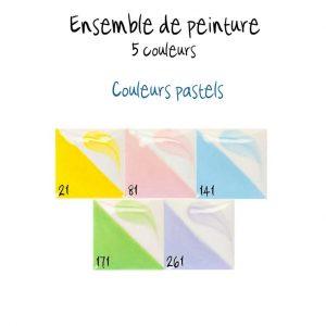 Ensemble de 5 couleurs pastel