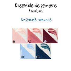 Ensemble de 5 couleurs romance