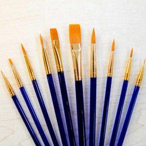 Matériel 10 pinceaux variés
