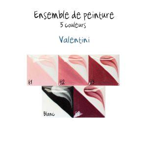 Ensemble de 5 couleurs Valentini