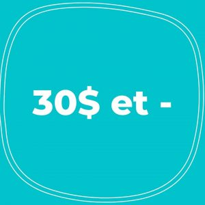 30$ et -